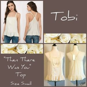 """NWT Tobi """"Then There Was You"""" Tank Top"""